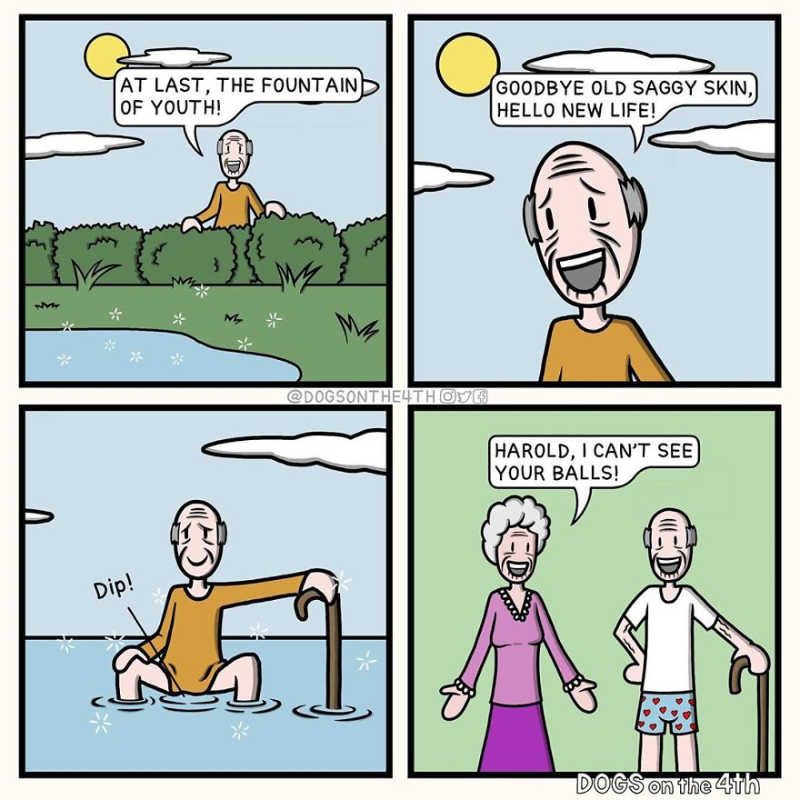 20 Hilarious Comics With Unexpected Twists By 'Dogs On The 4th'