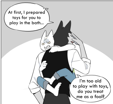 Beautiful Comic About Wolf Butler and His Cat Master (3 Chapters)