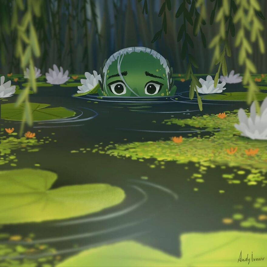Artist Completes The Green Mermaid Story, And It Touches People's Hearts